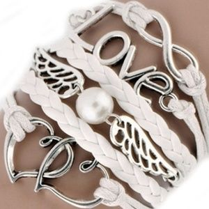 Jewelry - Leather Multilayer Infinity Love Boho Bracelet NWT